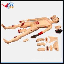 HR / J110 mannequin de silicone Manikin de soins infirmiers à traumatisme avancé
