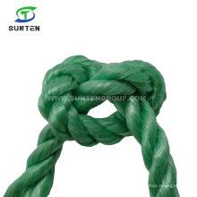 3 Strand Twisted/Twist Green PP/Polypropylene Splitfilm/Split Film Rope for Agriculture Packing