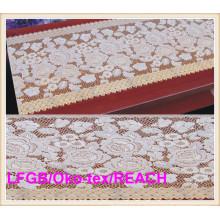 Vinyle Золотые длинные кружева стол ткани 50см Ширина