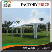 Pagoda gazebo tente de mariage 6x6m en cadre en aluminium durable pour un événement de cérémonie de mariage en plein air