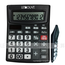 12 Digits Dual Power Desktop Calculator with Auto Power off Function (LC240BK)