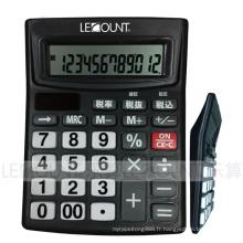 Calculatrice de bureau à 12 chiffres à double alimentation avec fonction de mise hors tension automatique (LC240BK)