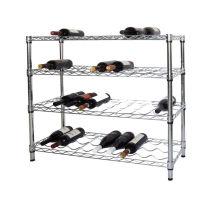 Adjustable DIY Chrome Metal Wine Rack Holder Shelf, NSF Approval