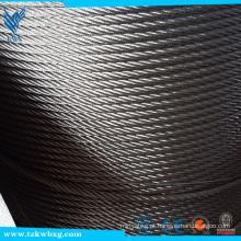 Fornecimento de cabo de aço de aço inoxidável da corda de aço fábrica