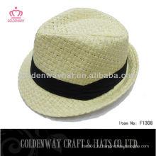 Дешевые мужские соломенные шляпы Paper Straw Fedora Hat