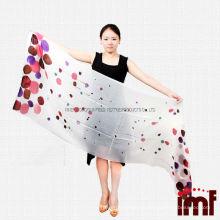 Гарантированные качества Легкие чистые кашемировые горошки с длинными широкими шальными шарфами для девочек