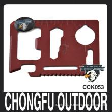 Cartão de crédito vermelho 4,5 * 6,8 centímetros faca de bolso