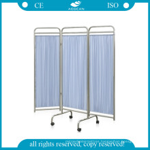 AG-Sc002 Hot Sell Hospital Screen Medical Screen Folding with Wheels