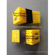 Тяжелых грузовиков ТБФ противооткатного упора /качественной пластмассы противооткатный упор для автомобиля шины тележки остановка для parking125051+125013