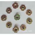 Color Zinc Plating disk 4 Prongs Tee Nuts