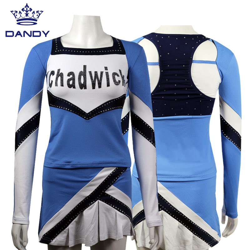 blue cheerleader uniform