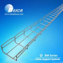 """Bandeja porta cable (malla de aluminio) Galvanizado en caliente 4 """"(100 mm) de altura, 24"""" (600 mm) de ancho Bandeja de malla de alambre"""