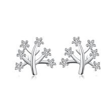 Handcraft korean style jewelry tree of life diamond earring