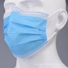 Masque chirurgical jetable en tissu non tissé à 3 plis