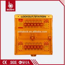 BD-B205 BRADY 12 Orifícios de cadeado Estação de rotulação de bloqueio de segurança do cadeado