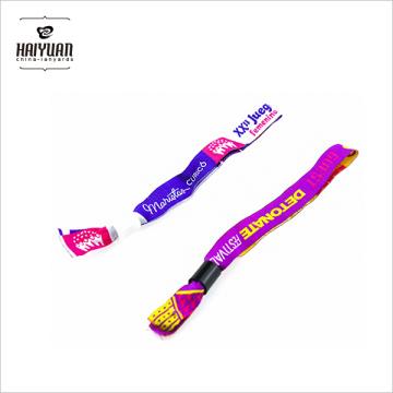 Kundenspezifisches Event / Festival Gewebtes Gewebe Wristband mit Verschluss