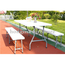 High Quality Plastic Folding Outdoor 183cm Folding Chair Seating Bench