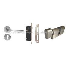 O zinco ligou / porta de aço inoxidável interior Lockset do Mortise da porta da sala, fechadura da porta