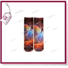 Сублимация Персонализированное фото печатных поли носки средней длины