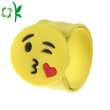Mode Silicone Emoji Simling Face Slap Watchbands Bracelet