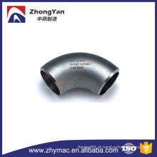 21/2 ' sch40s 316 / 316l um cotovelo de raio longo de aço inoxidável sem costura 90 graus 403