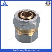 Acoplamiento de cobre amarillo de la alta calidad que ajusta con los extremos del stope (YD-6055)