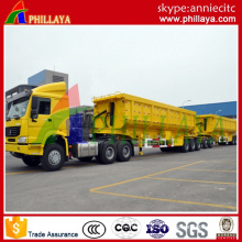 Double 2 Axles Diesel Fuel Type Heavy Duty Dump Truck Semi Trailer with Hydraulic Cylinder Front Tipper Trailer