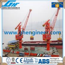 rack luffing marine barge pedestal portal crane