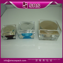 Top Sell J055 Square Shape Clear Skincare Cream Container And 30g 50g 100g Acrylic Cosmetic Jar 100