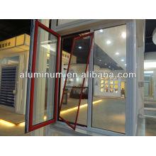 Profilé en aluminium de vitre en poudre