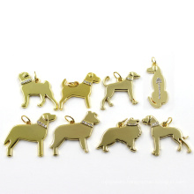 Metal Zinc Alloy Gold Dog Fashion Pendant