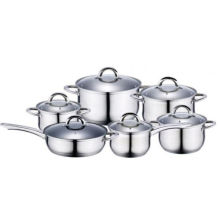 Amazon Hot Selling 12PC Stainless Steel Induction Cookware Set