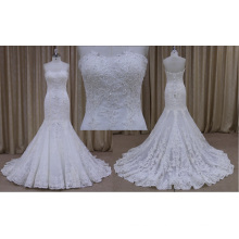 Красивые Вязаные Кружева 2016 Русалка Свадебное Платье