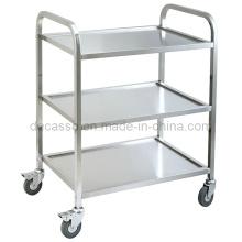 Stainless Steel Hotel Food Service Cart Trolley (DE34)