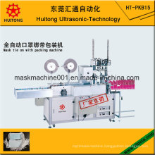 Automatic Ultrasonic Mask Tie-on Machine with Packing