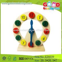Hot Sale Claasic Child Clock toys,Educational Kids Toys Clock,Preschool Wooden Toys Clock