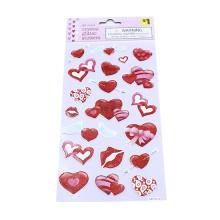 Creative Kids DIY Bronzing Stamping Diamond Lips Stickers Scrapbook Sticky Notes Decoration Children Classic Toys Stickers