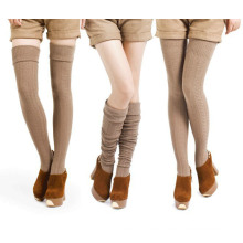 Women′s Lady′s Cotton Cable Double Needle Socks Stockings (TA204)