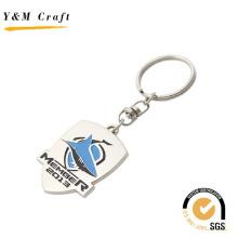 Специальный дизайн debossed логотип металлический брелок с двумя Цвет (Y03788)