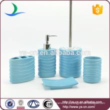 Conjunto de acessórios de casa de banho azul cerâmica