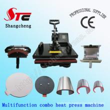 Multifunction Combo Heat Press Machine 8 in 1 T-Shirt Heat Press Machine Multifunction Combo Heat Transfer Machine Stc-SD08