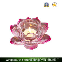 Lotus Glass Tealight Candle Holder for Home Decoration