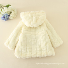furry coats children hot sale creamy clothes princess baby girls fashion furs long sleeve kids jackets winter furs high quality