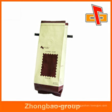 wholesale reusable side gusset coffee bag with valve for packaging