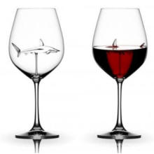 Factory Stock Wholesale Red Wine Glassware, Creative Shark Shape Goblet