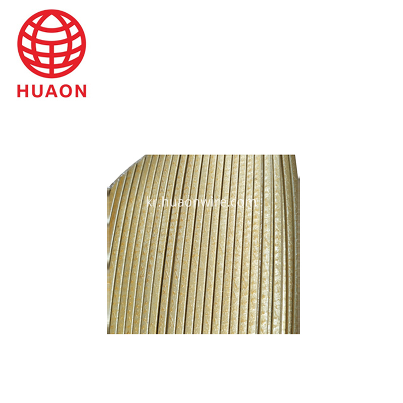 Glass Fiber Film Covered Flat Copper Wire
