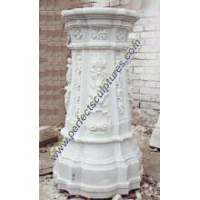 Pedestal de mármol de piedra del granito para la decoración del jardín (BA003)