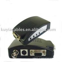 PCAV / S Vidéo BNC To VGA Converter TV Adapter Box