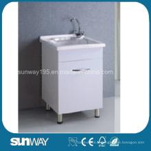 Mobília de lavanderia com lavagem a quente com bacia