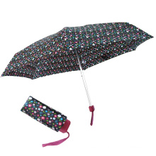 5-кратный самый маленький плоский зонт с крошечным кошельком
